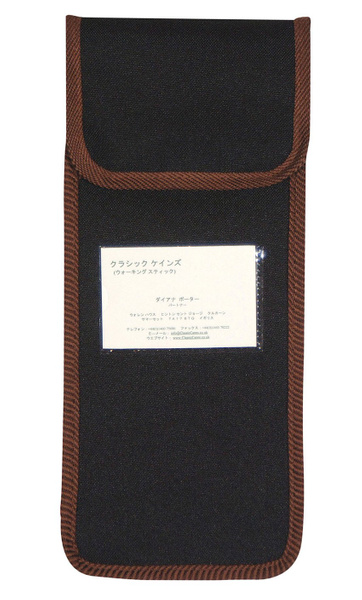 Foldingstick  wallet in classic black