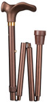comfort folding cane with softgrip, satin-finish bronce, left/right hand