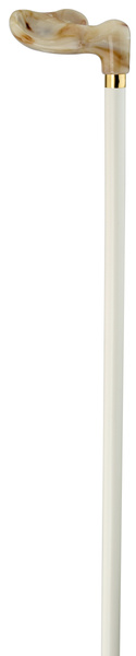 Fischer cane anatomical right white/marble – image 2