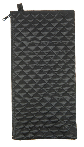 Black quilted folding cane case