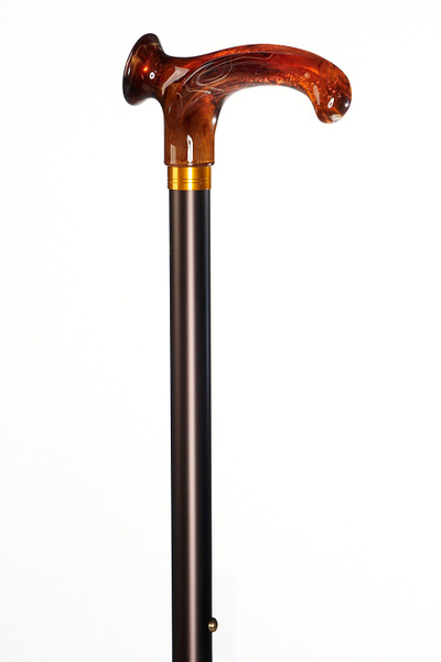 Relax Cane Amber, amber-coloured grip made of acetate, bronce right