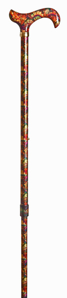 Walking Stick Fashion Derby GAUDI, elegant Derbygrip made of acrylic, stick made of sturdy light metal with strong color pattern, height adjustable, rubber buffer – image 2