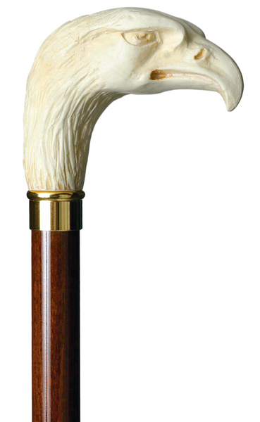 knob stick EAGLE, ivory- style,  brown beech wood – image 1