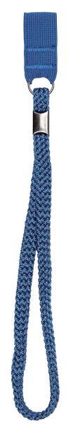 Wrist cord, rubber band for walking stick, blue
